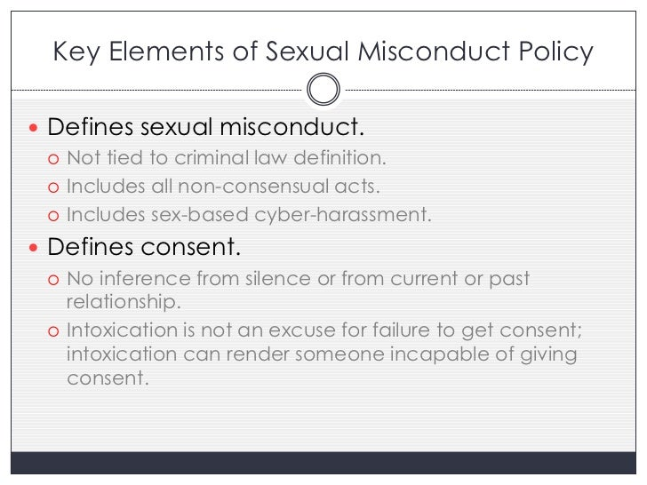 Sexual misconduct legal definition