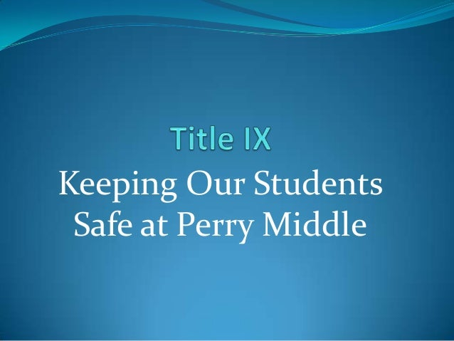 Keeping Our Students Safe at Perry Middle