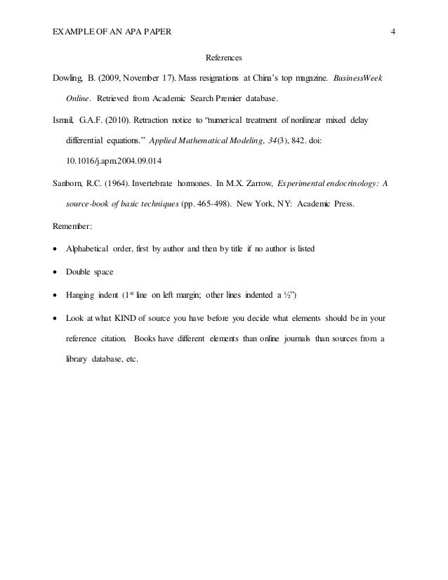 apa format abstract example paper