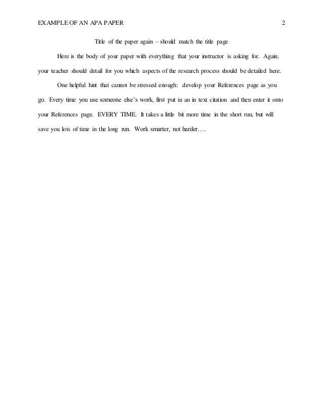 Wilmington University - No Abstract Style APA Formatting