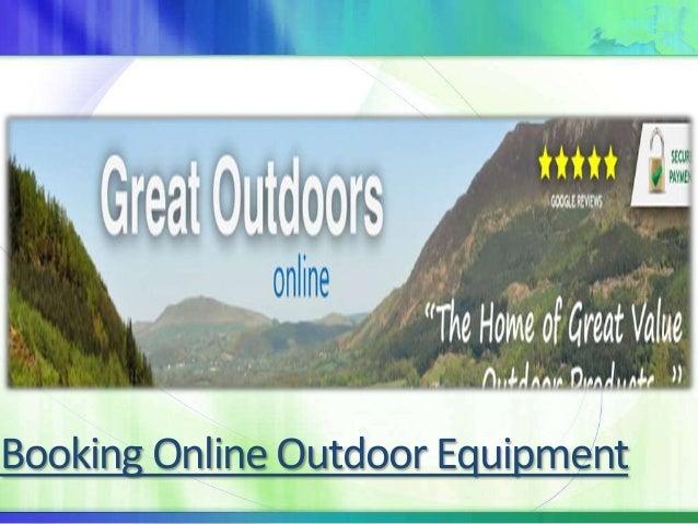 Booking Online Outdoor Equipment