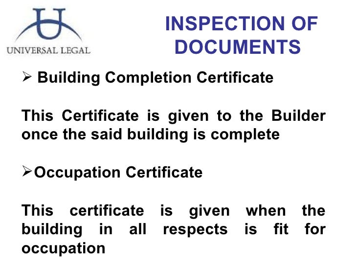 Title of the property 47 inspection of documents ullibuilding completion certificate yelopaper Gallery