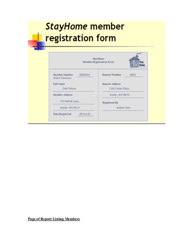 Page of Report Listing Members