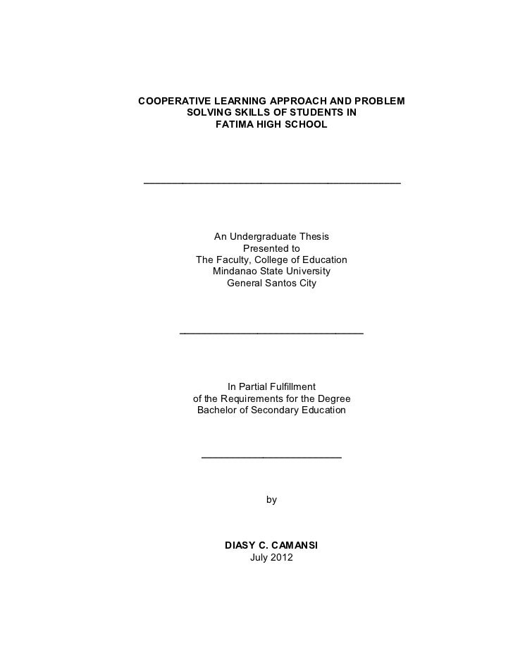 thesis proposal front page