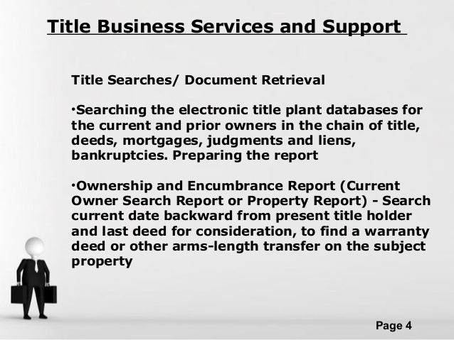 free title report