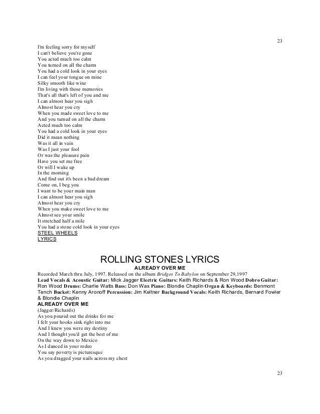 Almost Hear You Sigh Lyrics