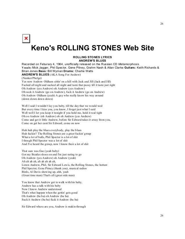 Lyric let it be the beatles lyrics : Titles rolling stones lyrics a z numbered