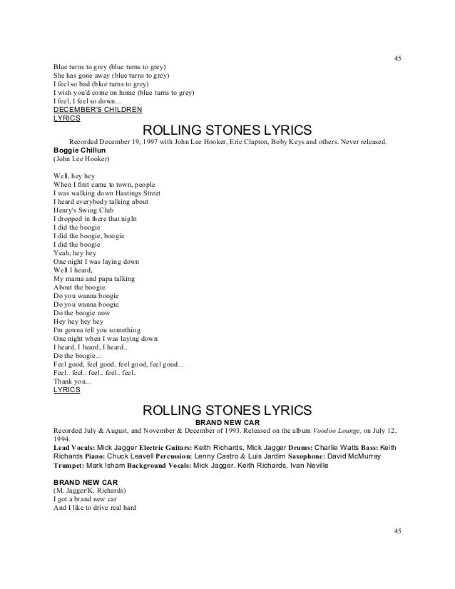 Lyric lyrics drift away : Titles rolling stones lyrics a z numbered