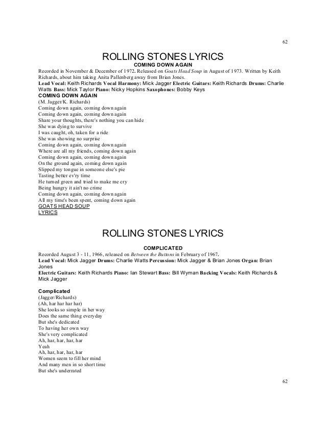 Lyric mr jones lyrics : Titles rolling stones lyrics a z numbered