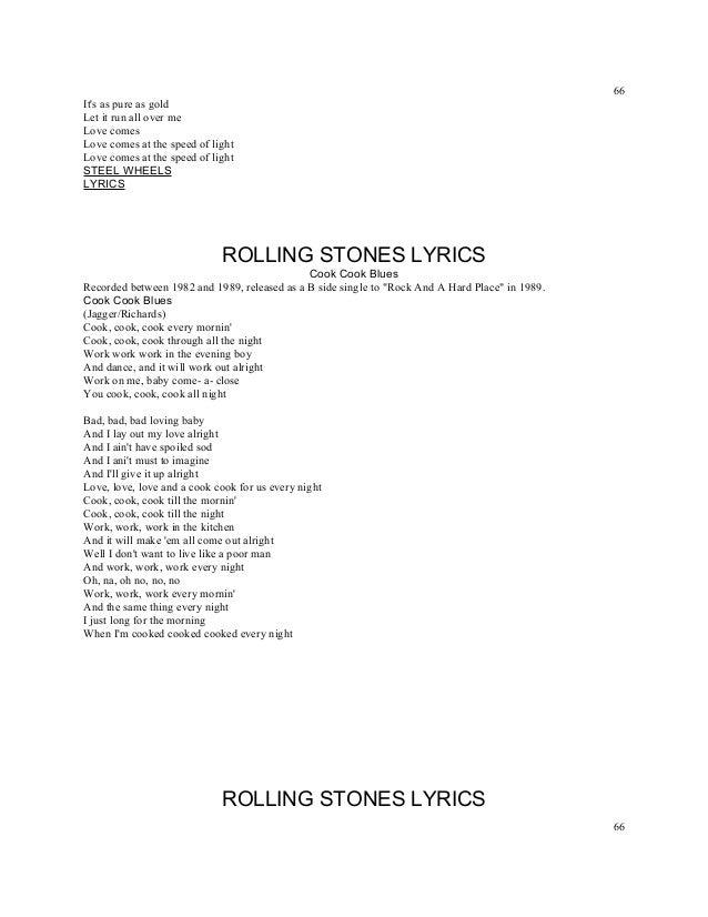 Lyric midnight blues lyrics : Titles rolling stones lyrics a z numbered