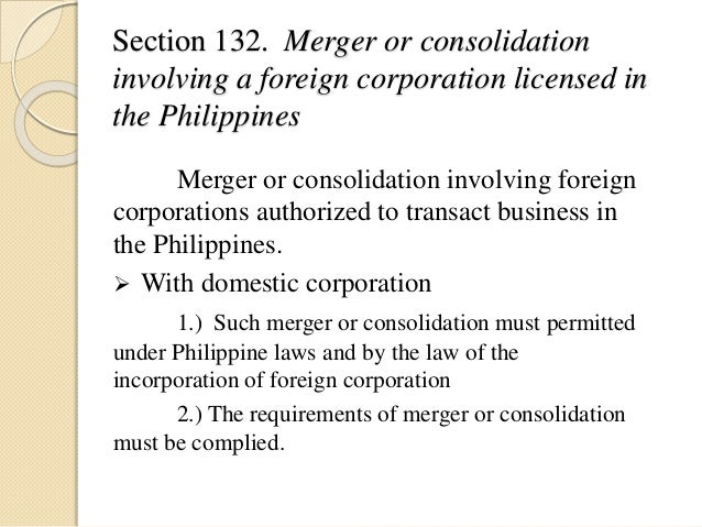 Title XV foreign corporation(sec. 123 - 149)