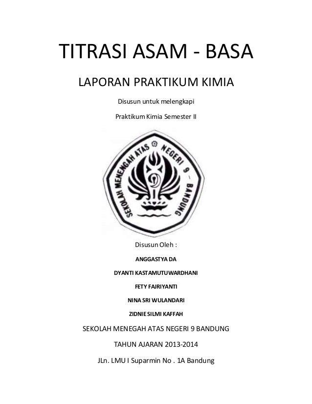 Laporan Praktikum Titrasi Asam Basa