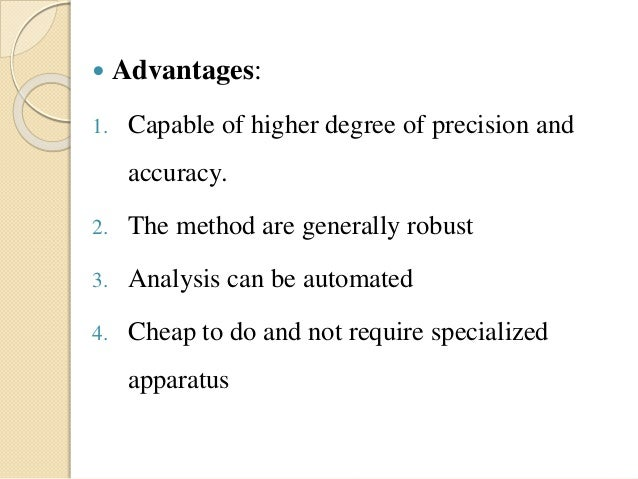 Titration Method Of Analysis