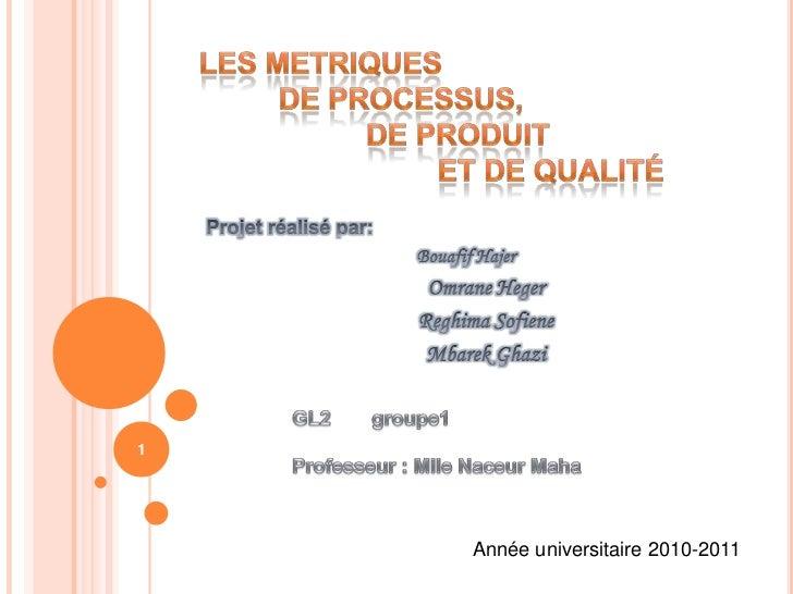 1    Année universitaire 2010-2011