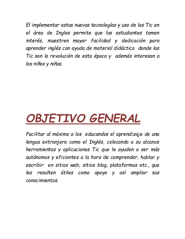 Titulo justificaci n objetivo general y espec ficos 7 for Objetivo general de un vivero