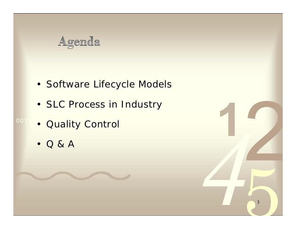 SLC Process for Software Development & Quality Control Slide 3