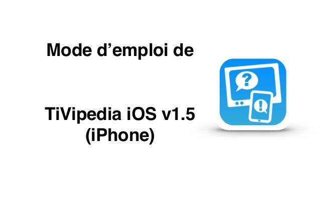 Mode d'emploi de