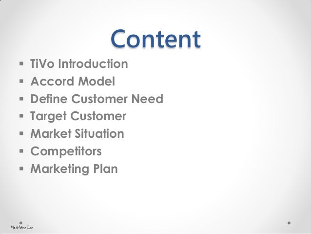 What is the main marketing strategy for tivo