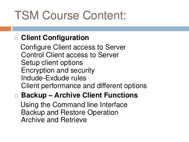 IBM TSM training - Tivoli storage manager online training | APEX