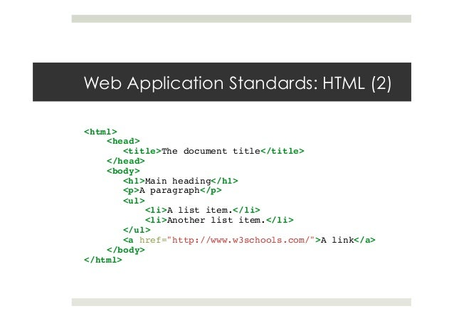 HTML5 - An introduction