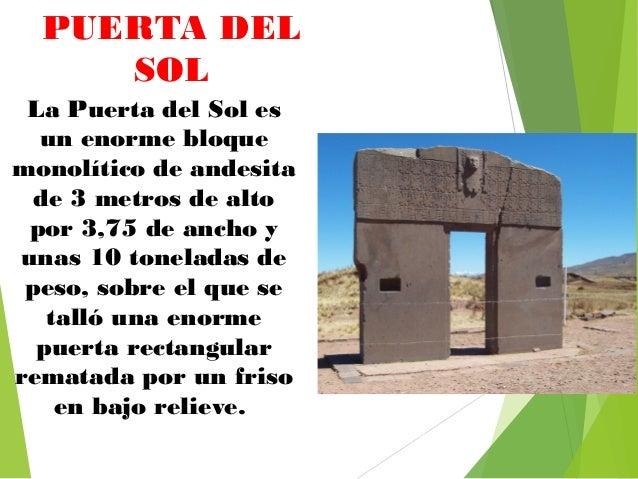 La ciudad de piedra tiwanaku for Que significa la puerta del sol