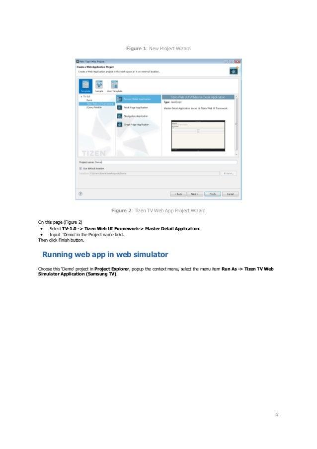 Tizen-based Samsung TV SDK IDE Help Guide