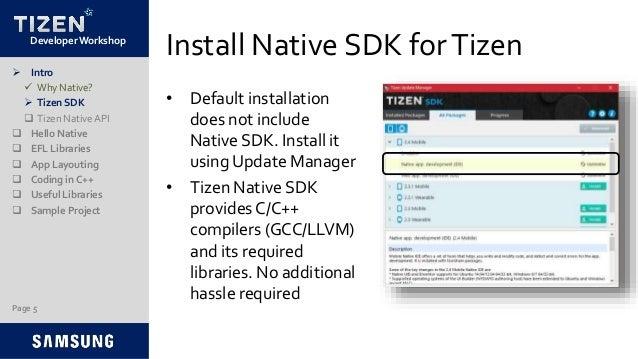 Tizen Sdk Install
