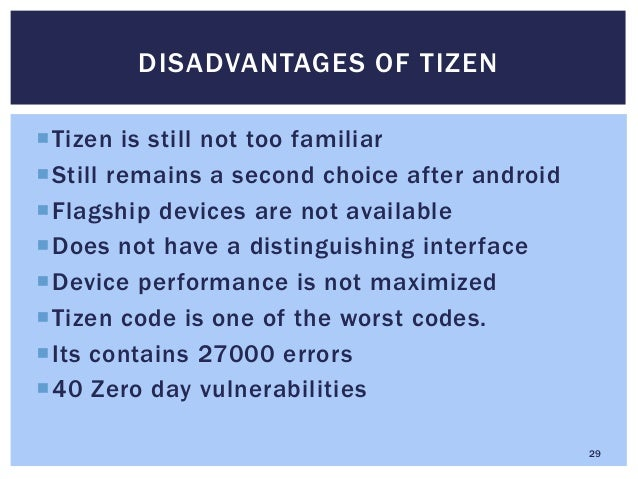 Tizen Operating System For Mobiles