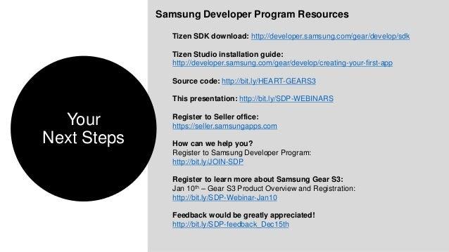 Tizen Web App Development webinar