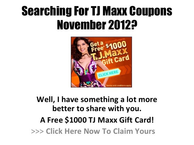 Tj maxx coupon code