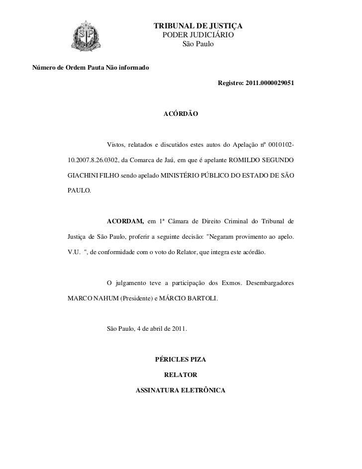 TRIBUNAL DE JUSTIÇA                                           PODER JUDICIÁRIO                                            ...