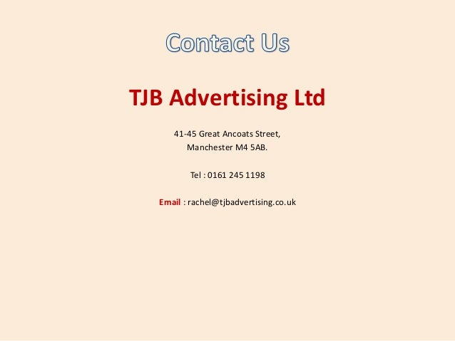Tjb advertising ltd sales and marketing company manchester for Advertising sales companies