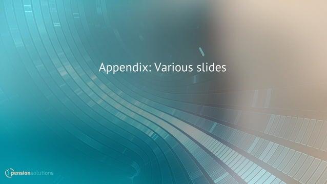 Appendix: Various slides