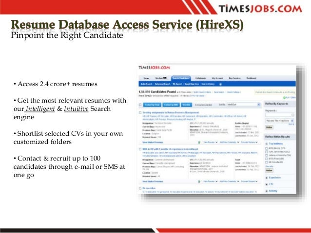 resume database access