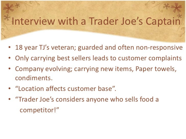 """trader joe s case analysis Analysis the case  the trader joe\""""s case questions will probably very similar to the last couple cases instruction files trader_joe_casepdf."""