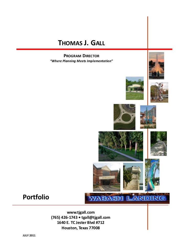 "THOMAS J. GALL                   PROGRAM DIRECTOR            ""Where Planning Meets Implementation""Portfolio               ..."