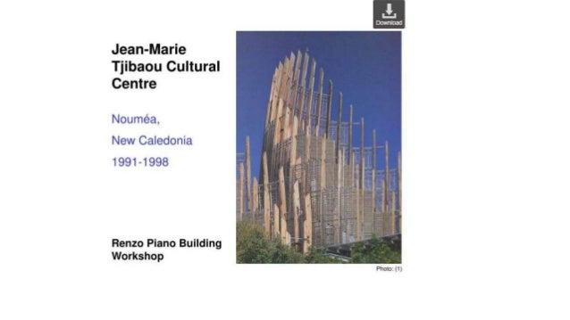 case study of tjibaou cultural center
