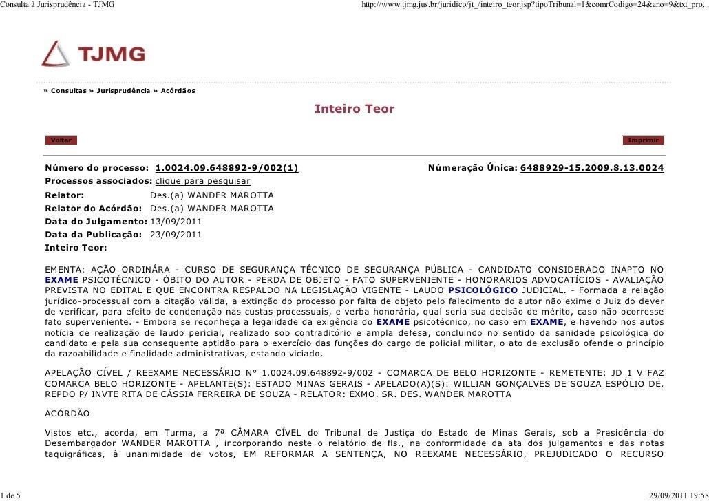 Consulta à Jurisprudência - TJMG                                                 http://www.tjmg.jus.br/juridico/jt_/intei...
