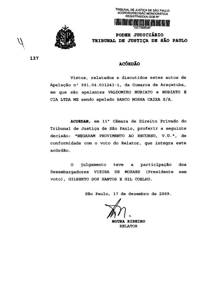 TRIBUNAL DE JUSTIÇA DE SÃO PAULO                              ACÓRDÃO/DECISÃO MONOCRÁTICA                                 ...