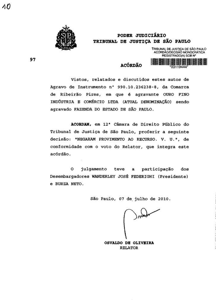 PODER JUDICIÁRIO                   TRIBUNAL DE JUSTIÇA DE SÃO PAULO                                          TRIBUNAL DE J...