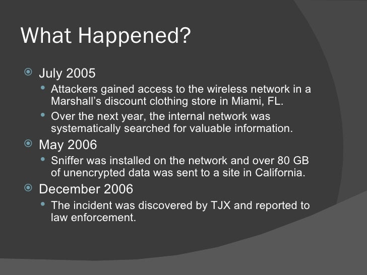 tjx security breach case study analysis
