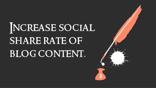 Increase social share rate of blog content. 3