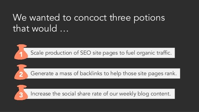 Increase the social share rate of our weekly blog content. Generate a mass of backlinks to help those site pages rank. We ...
