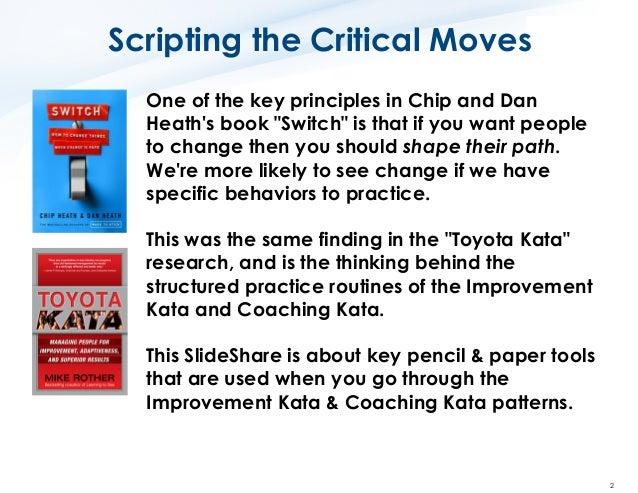 Toyota Kata How to Use the Key Improvement Kata Forms Slide 2