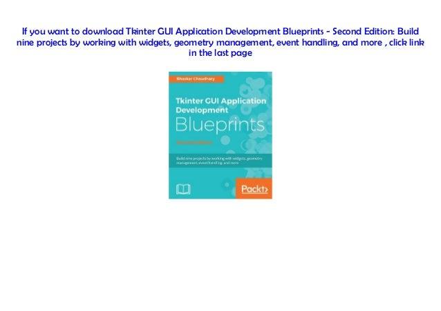 Download] Tkinter GUI Application Development Blueprints