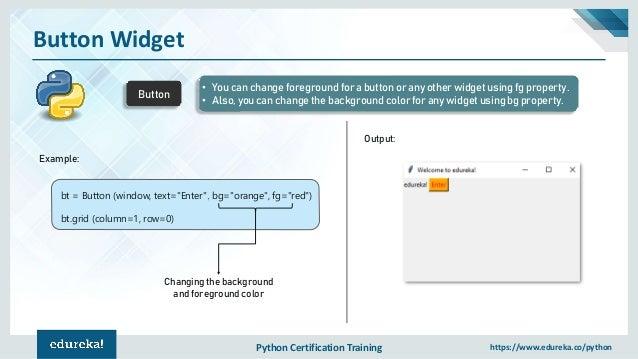 Tkinter Python Examples
