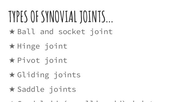Types Of Skeletal Joints In The Human Body