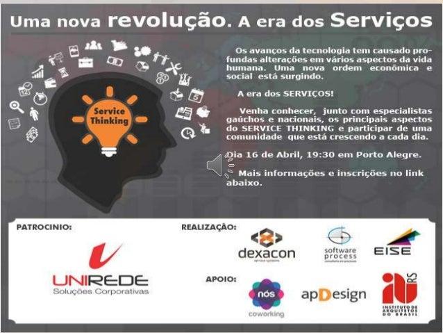 1 de 12 Gerenciamento de Serviços Um novo modelo de governança corporativa Qualificação Profissional para o Negócio