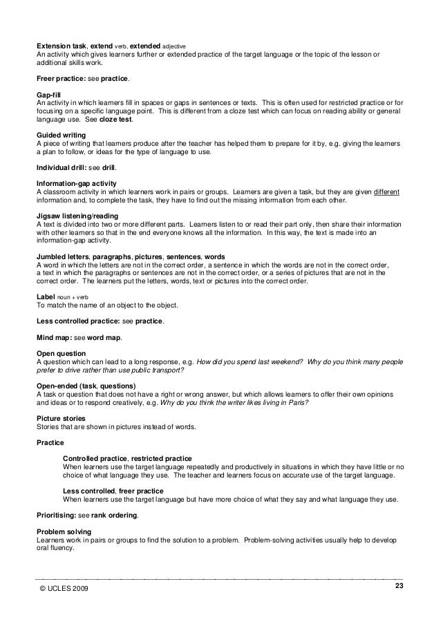 tkt glossary Tesol-tkt preparation certificate  tkt glossary and tesol terminology e confidence building component: develop speaking and presentation skills, and gain.