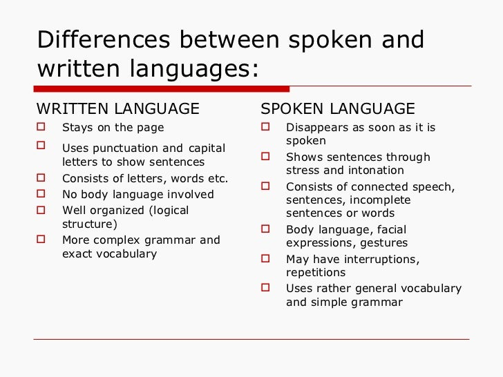 difference written and spoken 1 billion words texts from books, newspapers and magazines spoken - informal, business and academic conversations learner data taken from cambridge esol exams (good for identifying common.